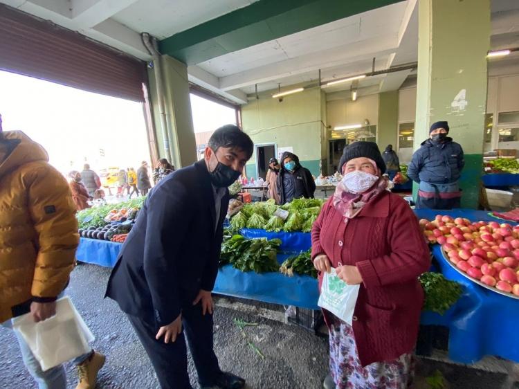 Çandır Pazardaki Kadın Esnafları Ziyaret Etti
