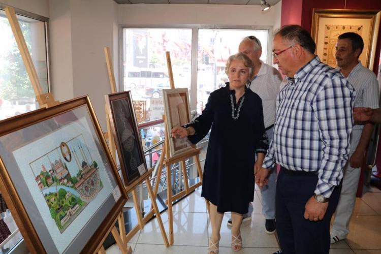 Tezhip Sergisinin Açılışını Başkan Salman Yaptı